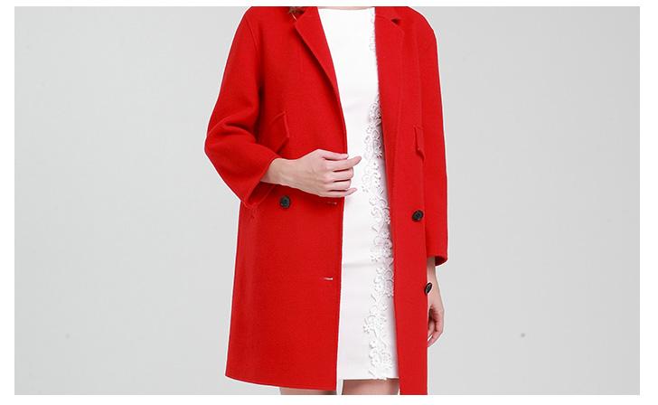 恒源祥女士纯手工双面羊毛大衣